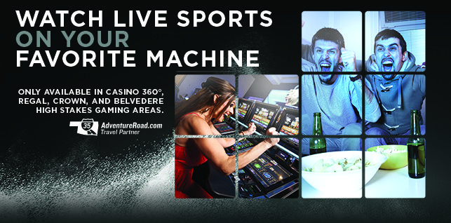 Watch live sports in Casino 360°!